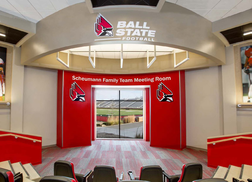 For the new Ball State University Football Complex, the design focused on  overall recruitment. As the saying goes, You only have one chance to make  a first ...